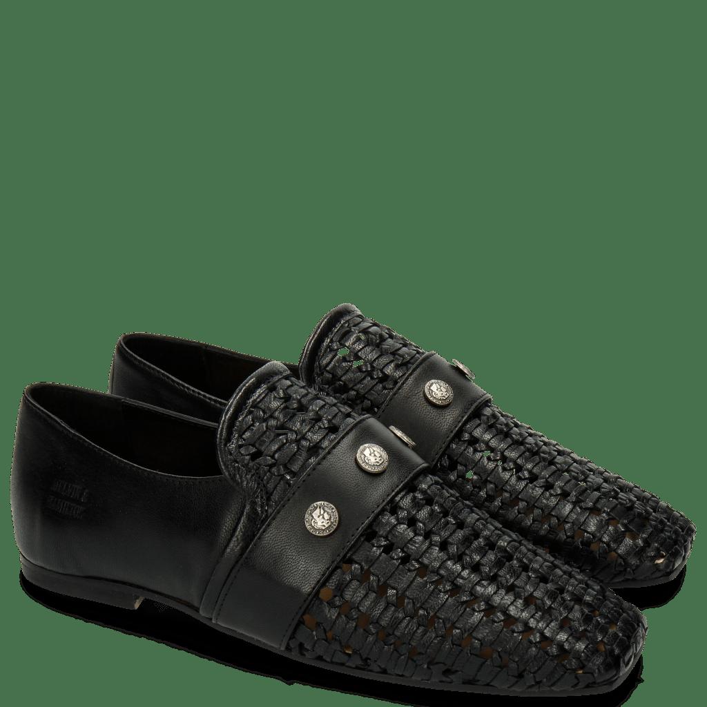 Loafers Erika 2 Black Rivets