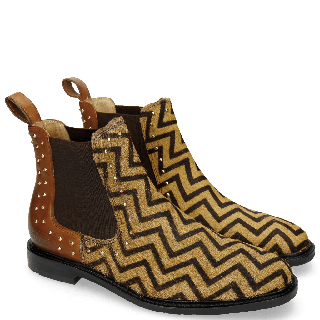 Ankle boots Katrin 3 Hairon Driveway Wood Elastic Brown