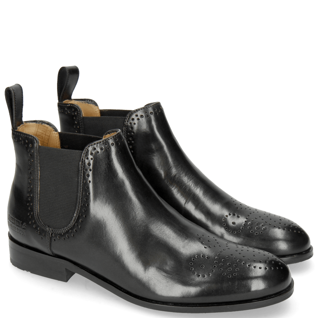 Ankle boots Sally 16 Black Elastic Black Rubber Sole M&H