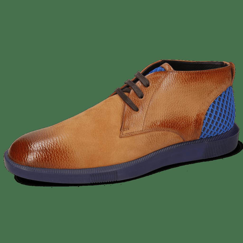 Sneakers Newton 2 Como Tan Net Navy Underlay Suede