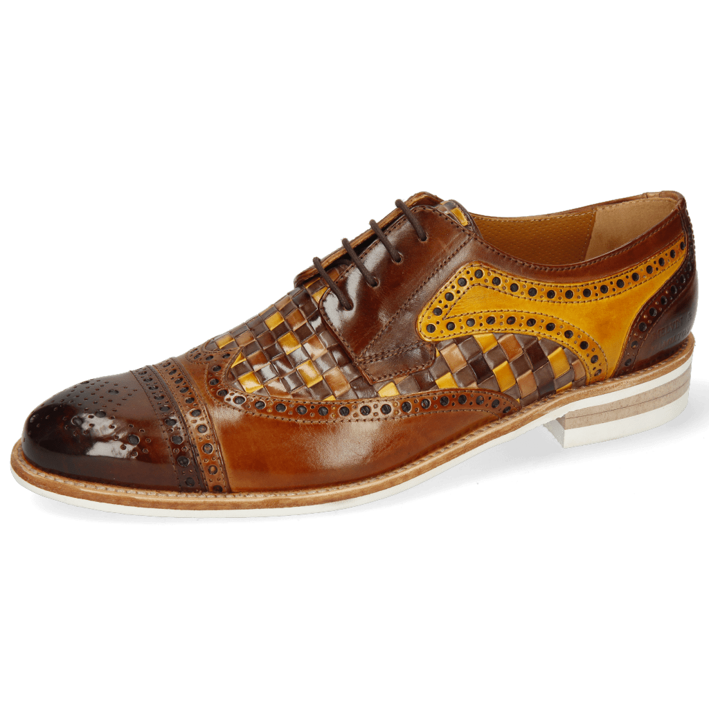 Derby shoes Henry 7 Wood Sabbia Tan Woven