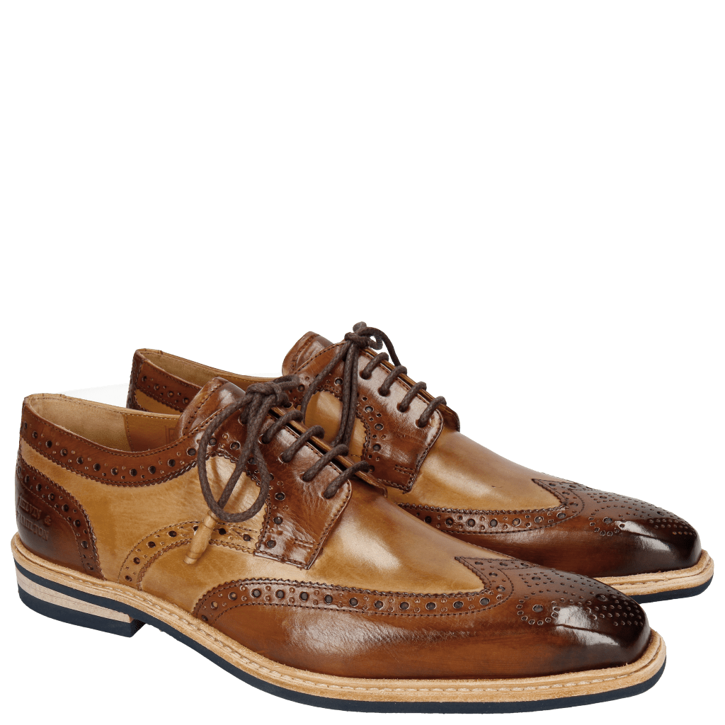 Derby shoes Marvin 1 Wood Sand Tassel Modica Navy
