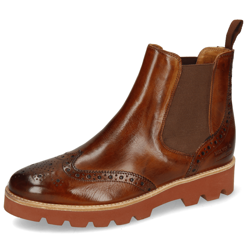 Ankle boots Selina 6 Wood Elastic Brown Lining