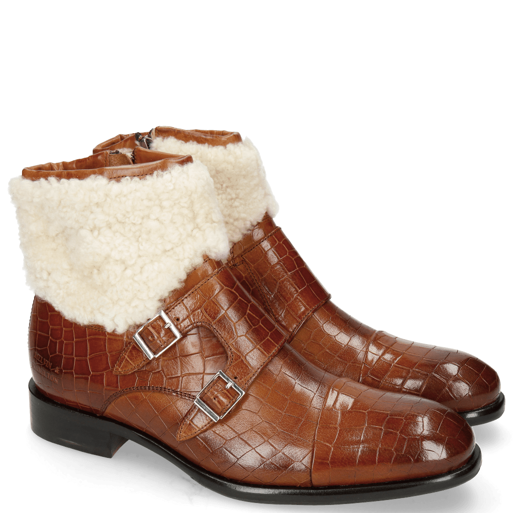 Ankle boots Patrick 1 Crock Tan Sherling Beige