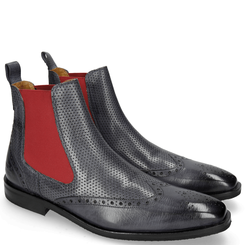 Ankle boots Alex 9 Berlin Navy Perfo Elastic Red
