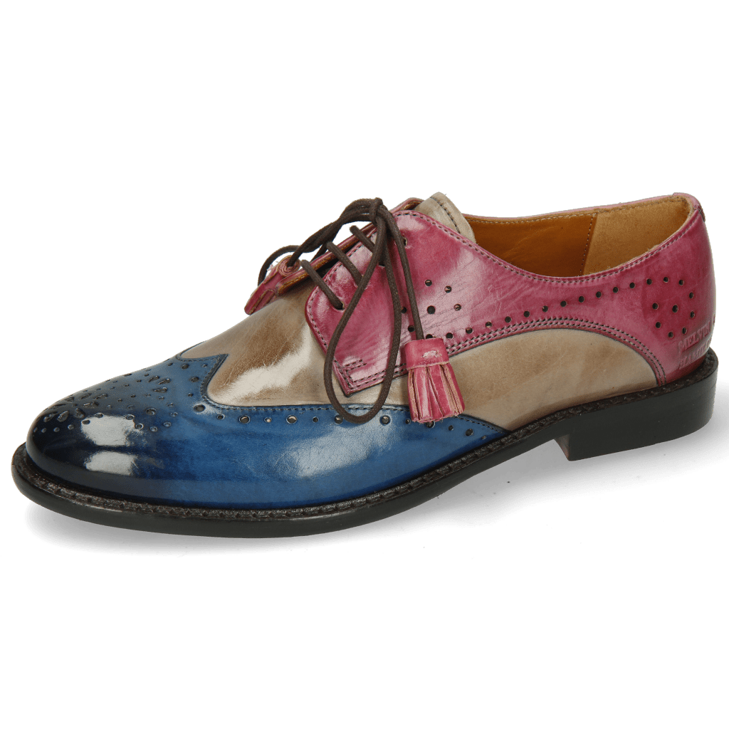 Derby shoes Selina 41 Bluette Oxygen Lilac Tassel