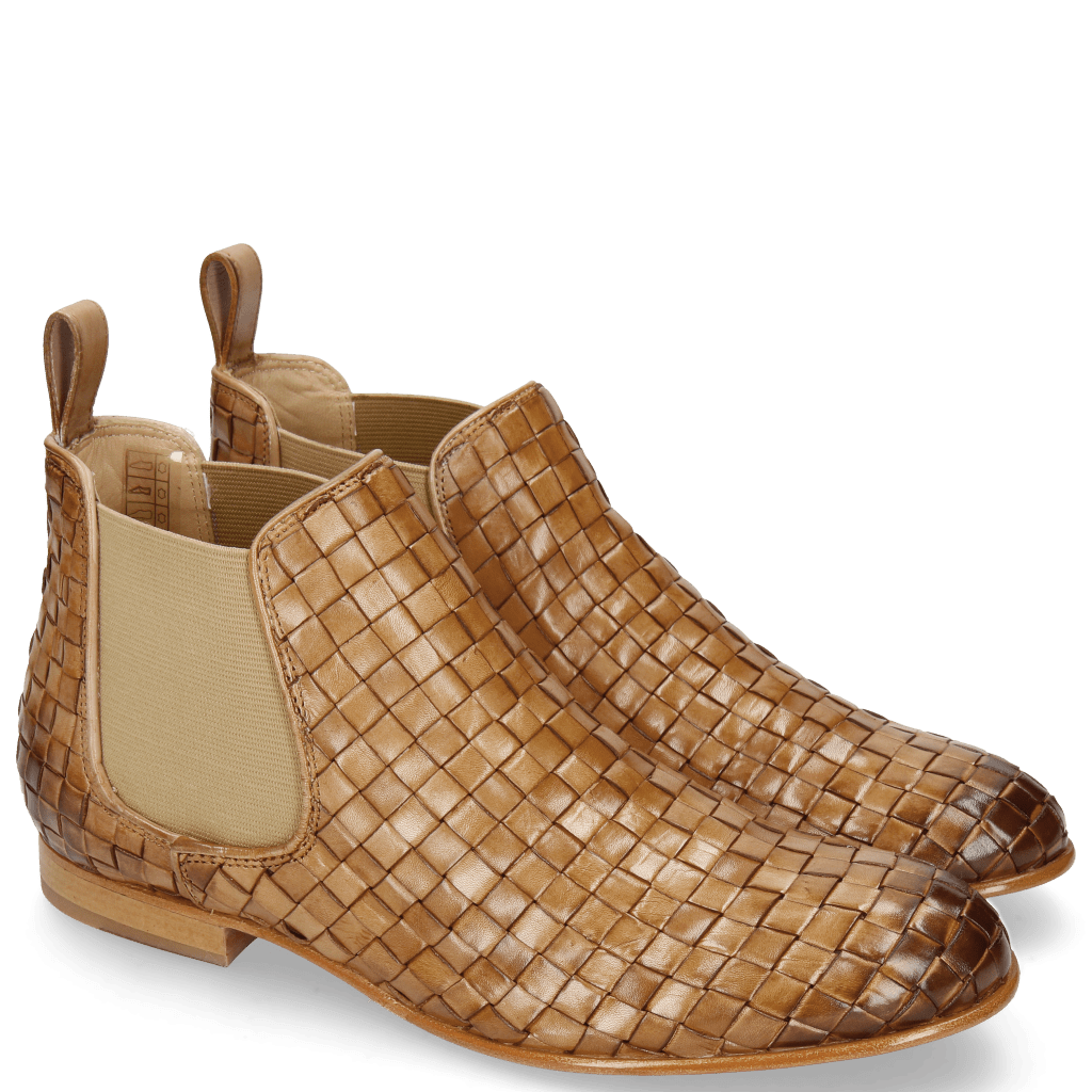 Ankle boots Sally 25 Woven Nappier Beige