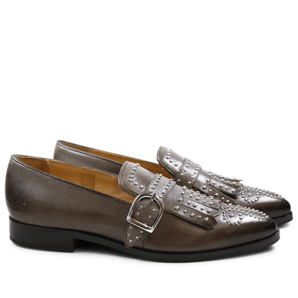 Loafers Jessy 26 Stone Rivets Buckle