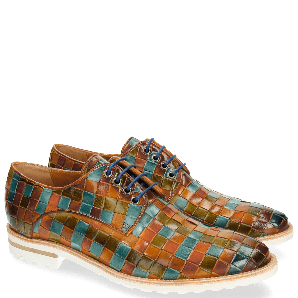 Derby shoes Brad 7 Woven Multi 1 Aspen White