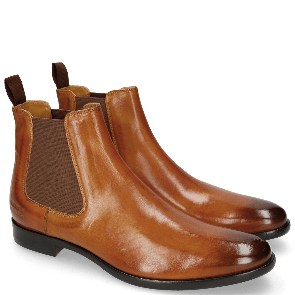 Ankle boots Clint 7 Tan Elastic Brown RS Blue