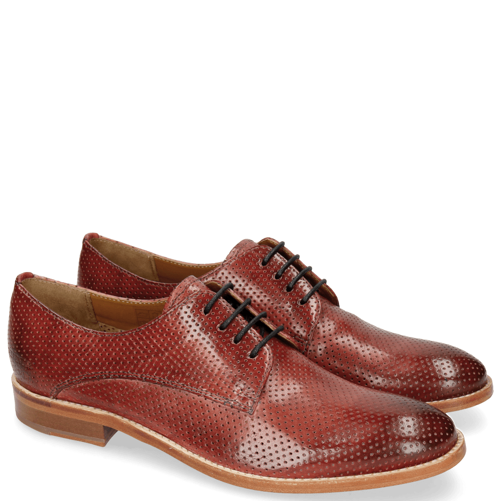 Derby shoes Amelie 14 Perfo Ruby