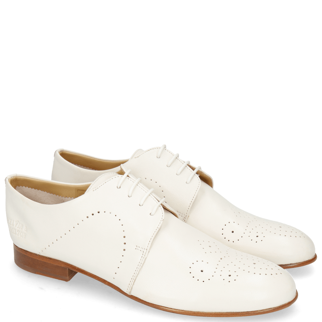 Derby shoes Sally 1 Nappa Glove Ivory Lining Collar