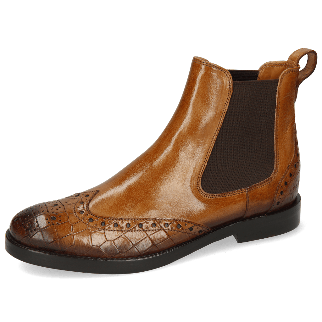 Ankle boots Amelie 5 Crock Sand Shade Dark Brown