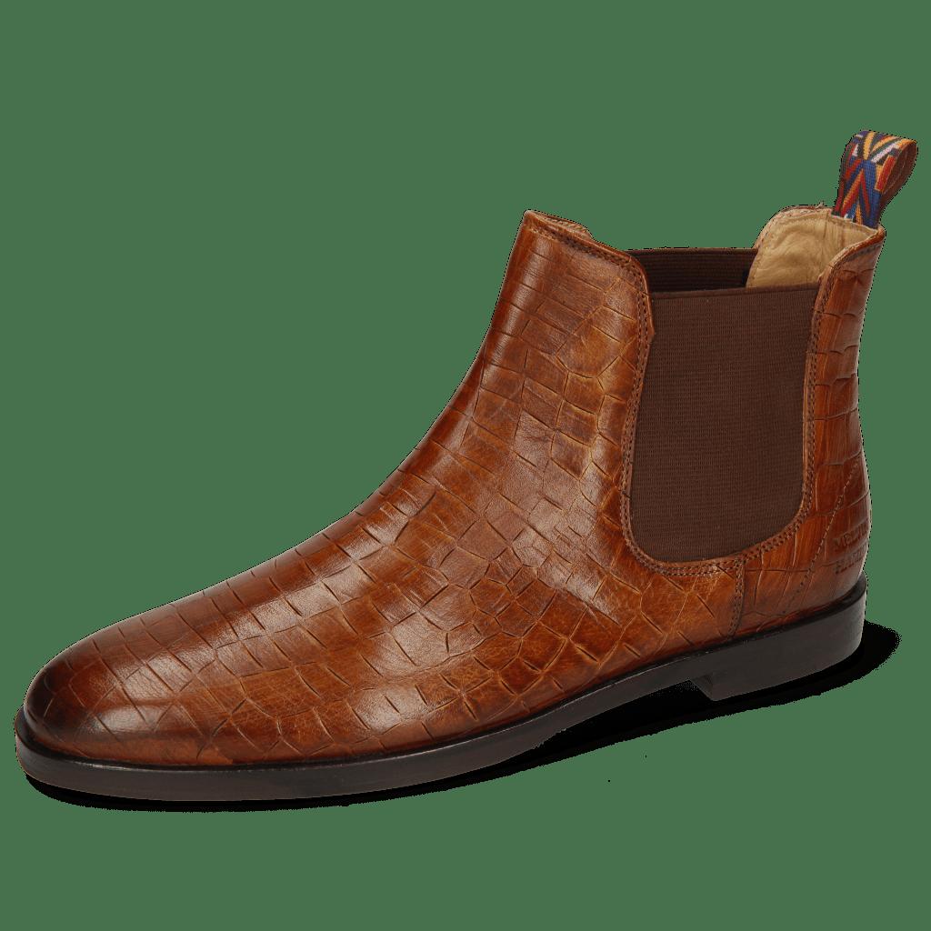 Ankle boots Susan 10A Crock Tan Loop Peru Elastic Mid Brown