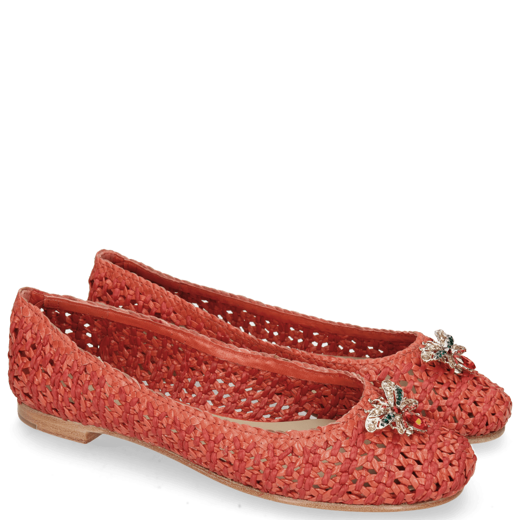Ballet Pumps Kate 5 Woven Red Accessory Bee