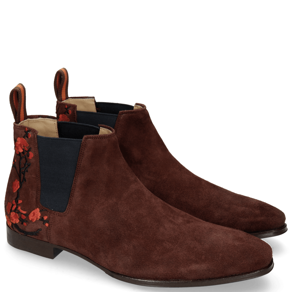 Ankle boots Viggo 1 Lima Wine Embrodery Flower