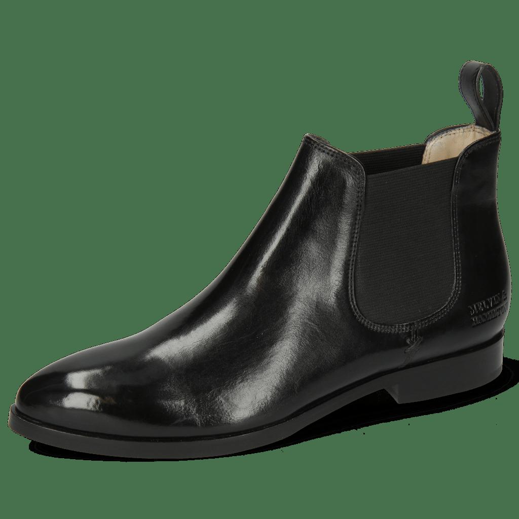 Ankle boots Jessy 1 Nappa Glove Black Elastic Black