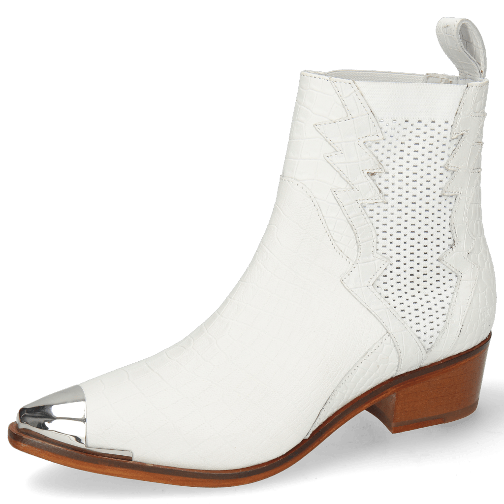 Ankle boots May 1 Nappa White Toe Cap Gunmetal