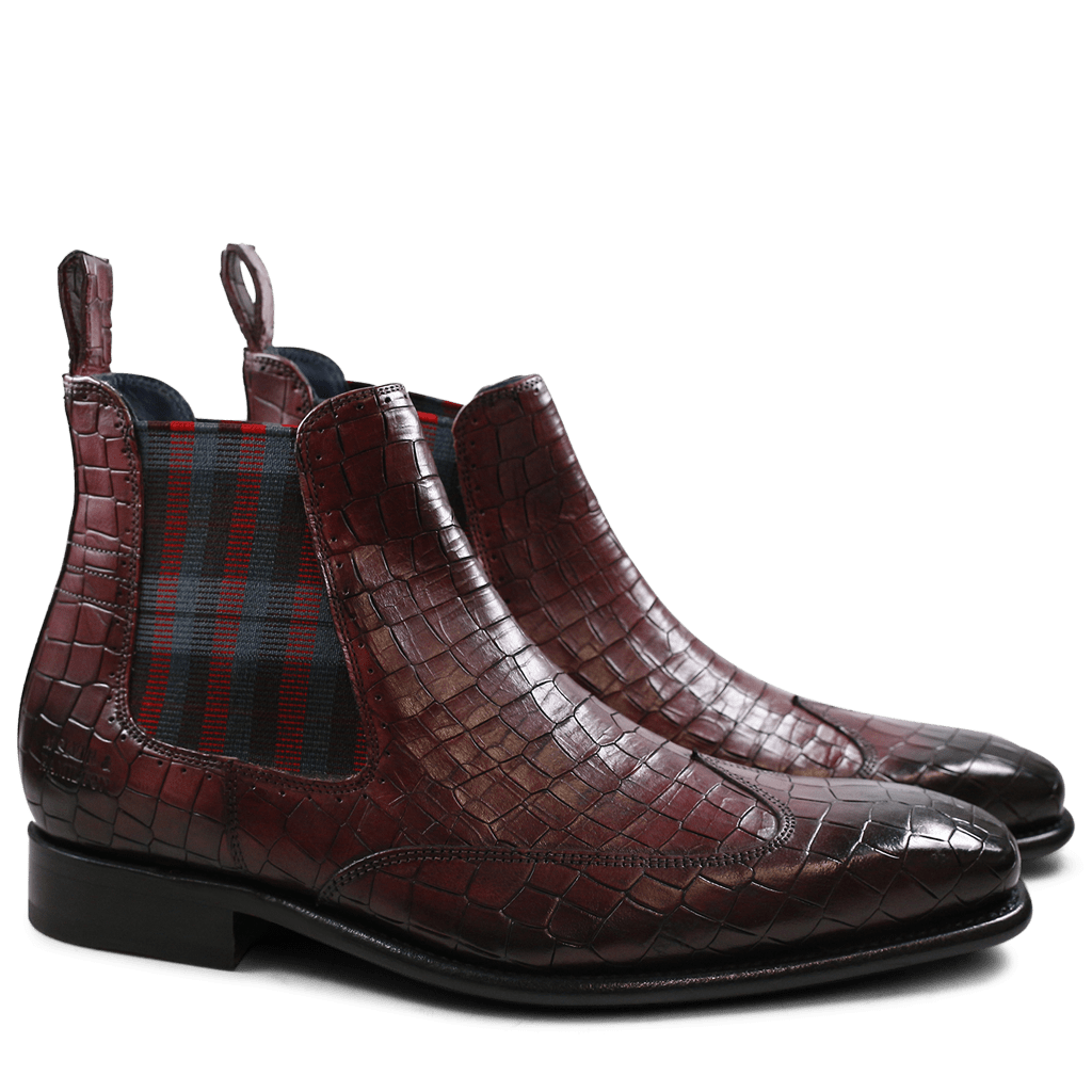 Ankle boots Stanley 3 Rocco Burgundy Elastic Black LS
