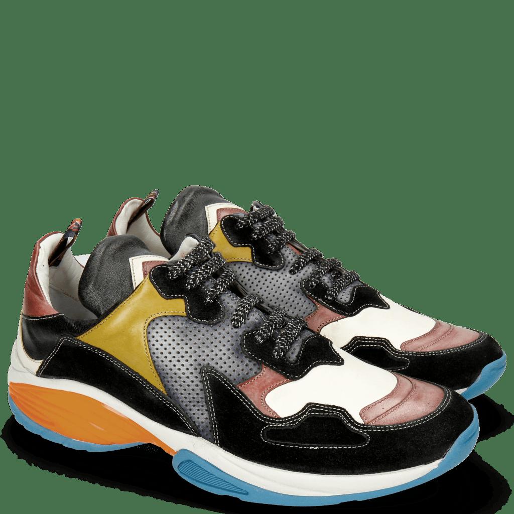 Sneakers Kobe 1 Suede Pattini Black Ruby Vegas White Sol Perfo Navy