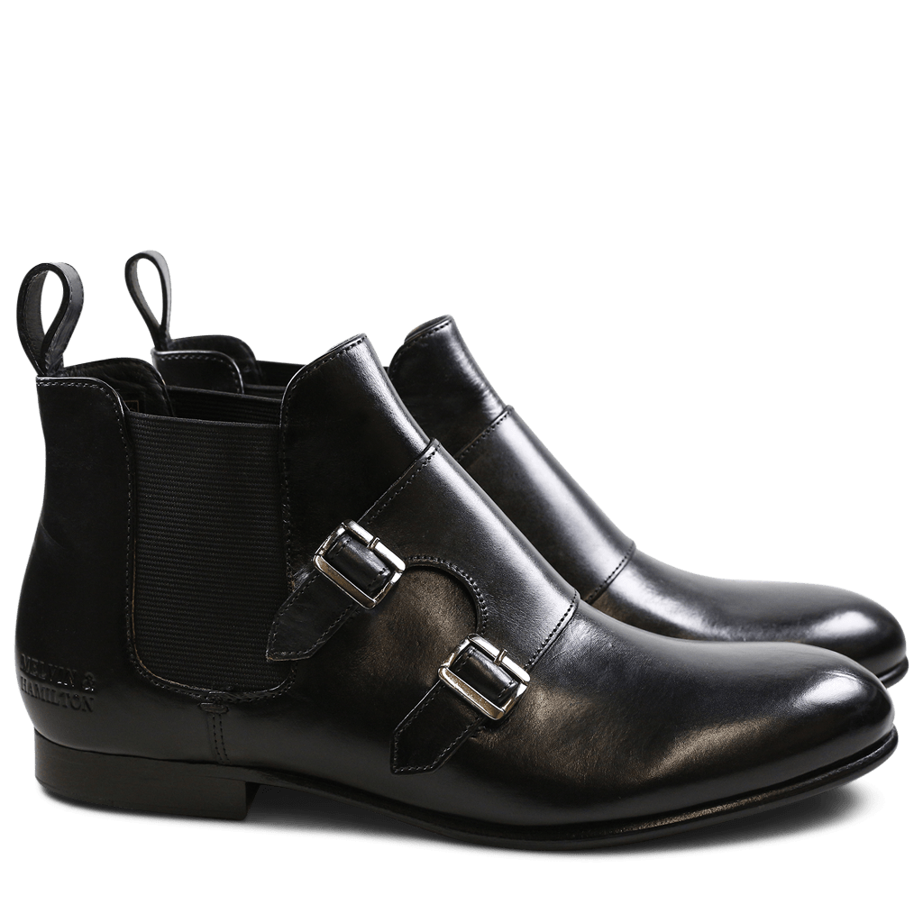 Ankle boots Sally 27 Crust Black Elastic Black HRS