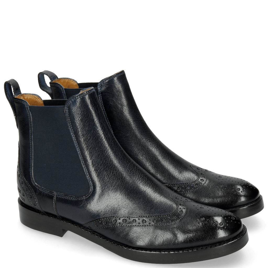 Ankle boots Amelie 5 Venice Navy Elastic Navy Lining Rich Tan