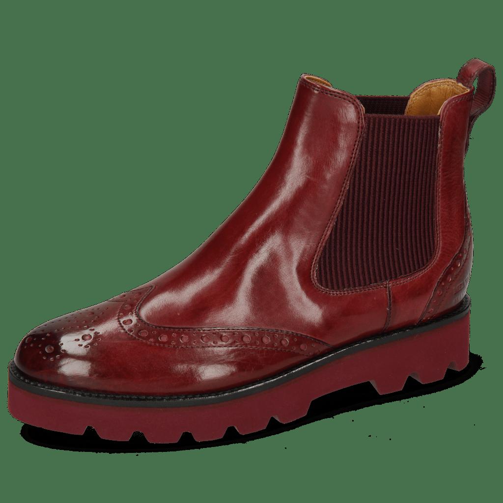 Ankle boots Selina 29 Vegas Burgundy Elastic Ribbed