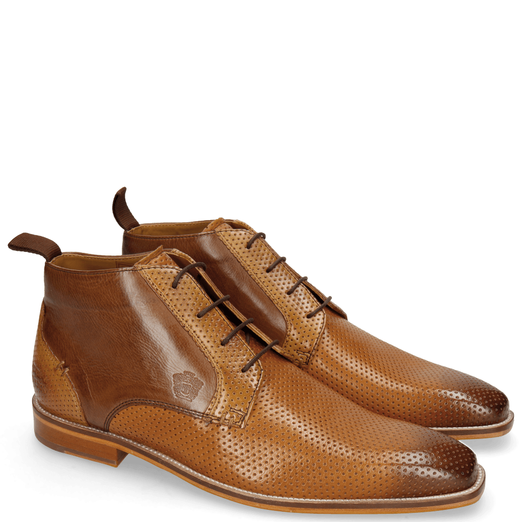 Ankle boots Alex 11 Berlin Perfo Cognac Camel Mid Brown