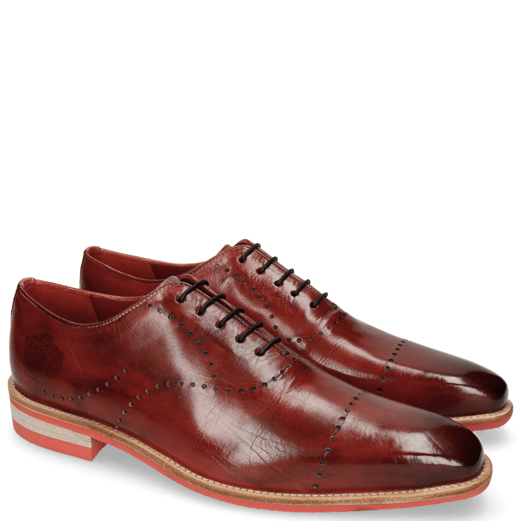 Oxford shoes Lance 40 Ruby Lasercut Crown