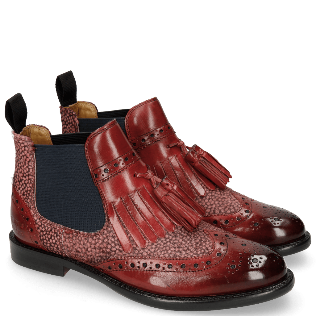 Ankle boots Selina 5 Ruby Hairon Halftone Wine