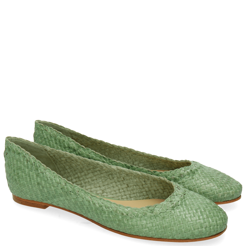 Ballet Pumps Kate 5 Woven Mint