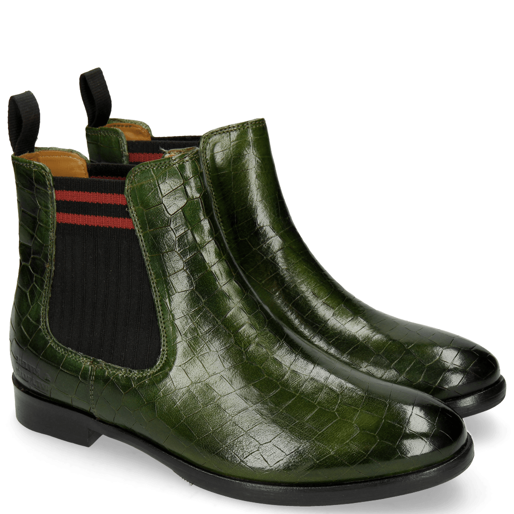 Ankle boots Daisy 6 Ultra Green Elastic Lines Red