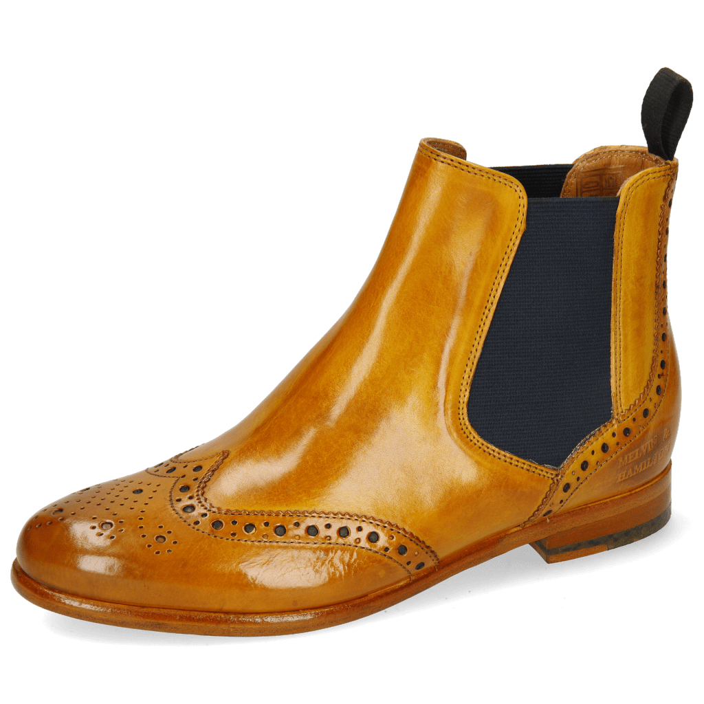 Ankle boots Selina 6 Yellow Elastic Navy Lining