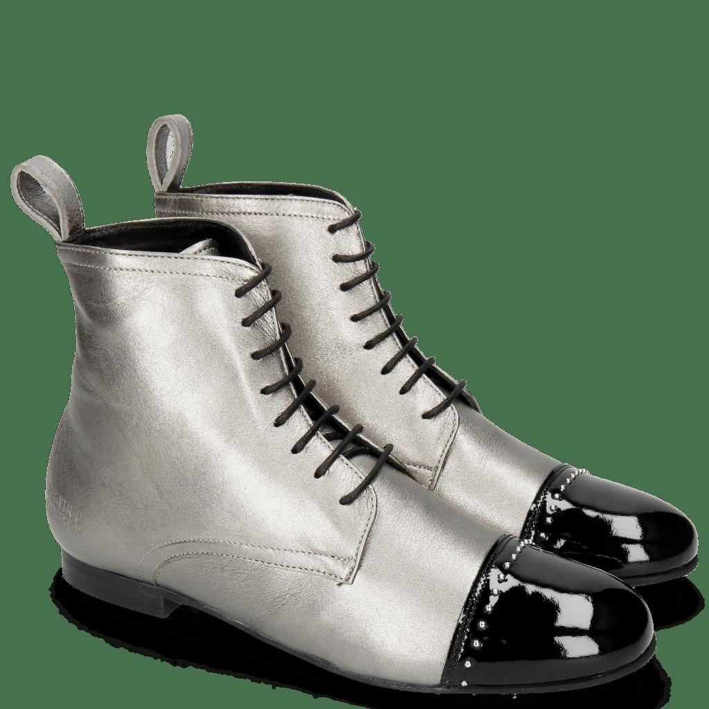Ankle boots Sonia 7 Patent Black Talca Steel Rivets