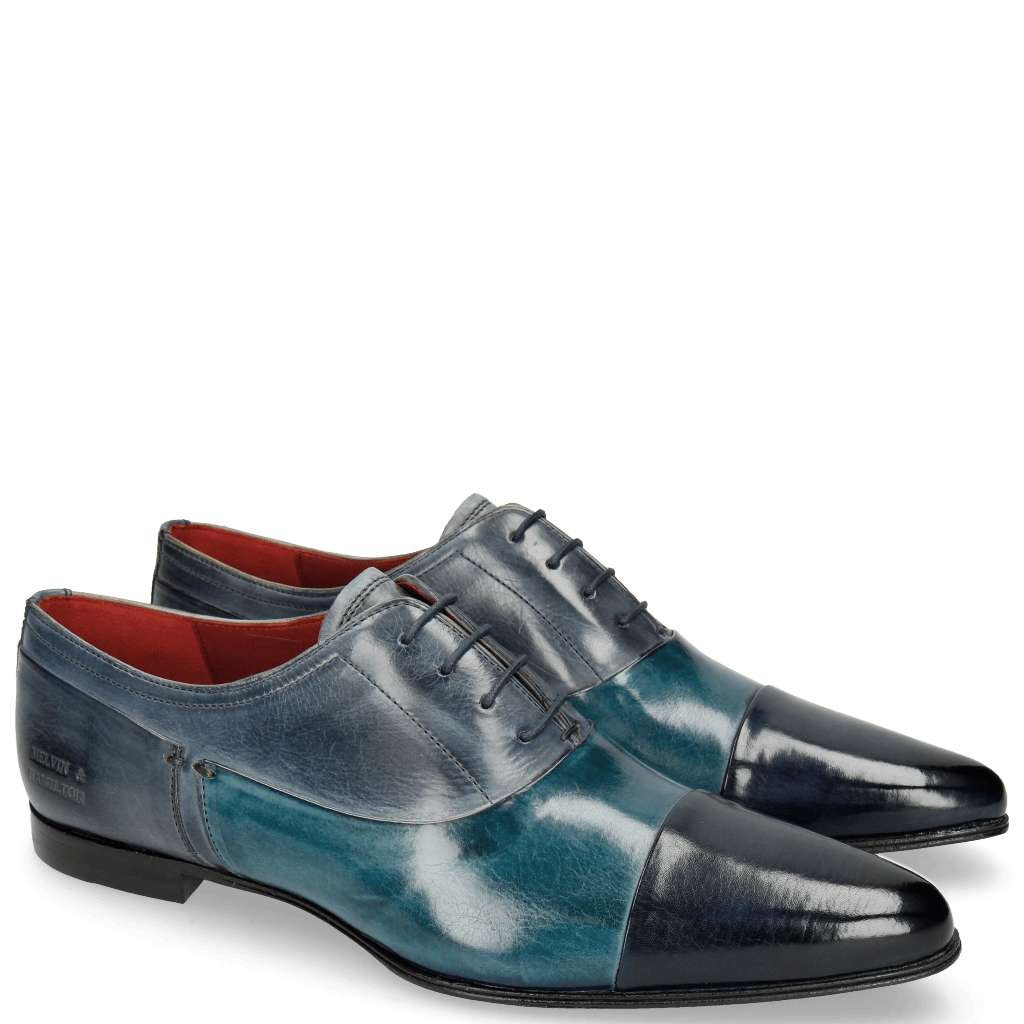 Oxford shoes Sidney 5 Marine Mid Blue Satellite