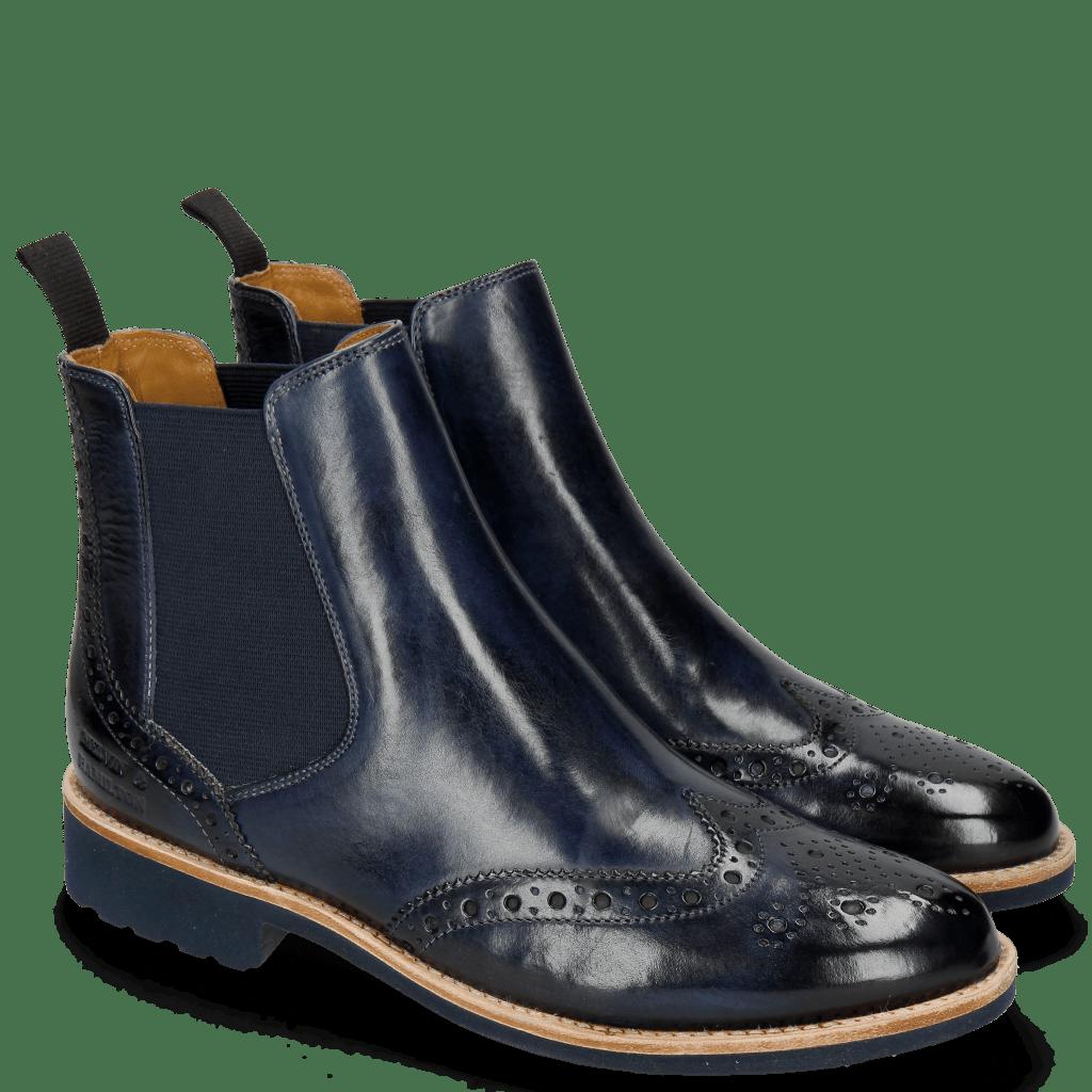 Ankle boots Selina 6 Marine Elastic Navy