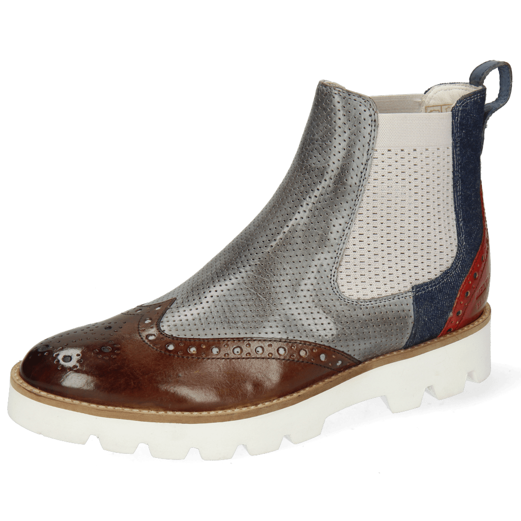 Ankle boots Selina 29 Venice Pisa Mid Brown Perfo Clear Water