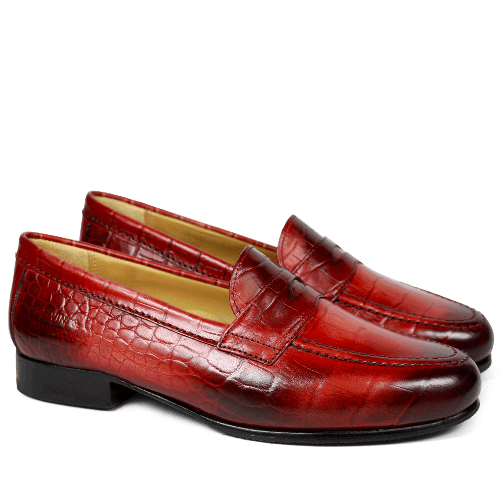 Loafers Marie 1 Croco Red HRS