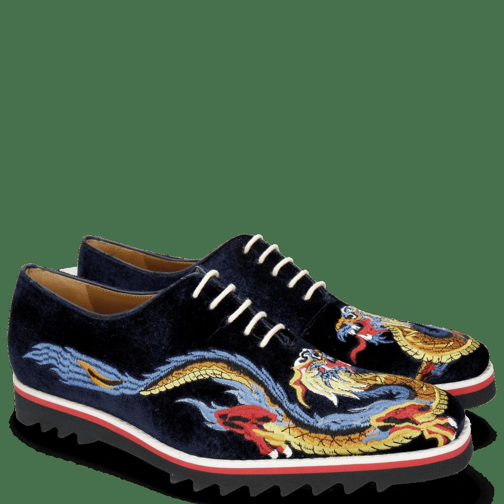 Oxford shoes Clark 25 Velluto Midnight Dragon
