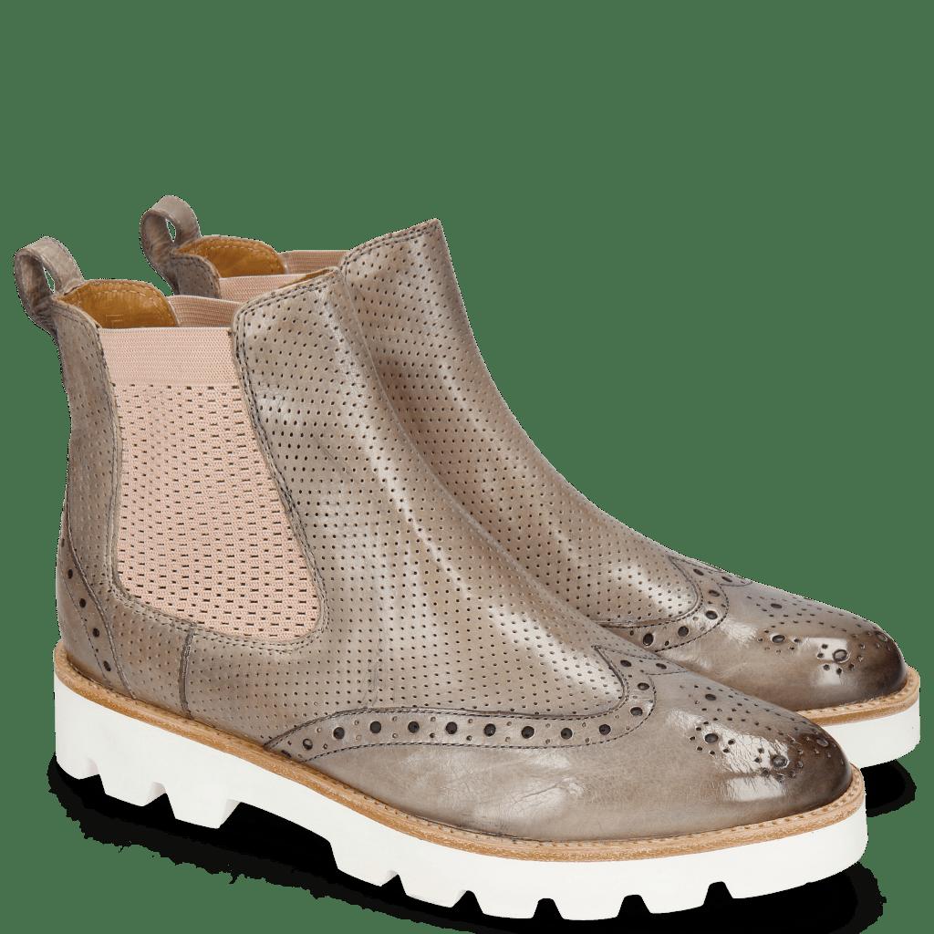 Ankle boots Selina 29 Pisa Perfo Oxygen Elastic Guglia Rose