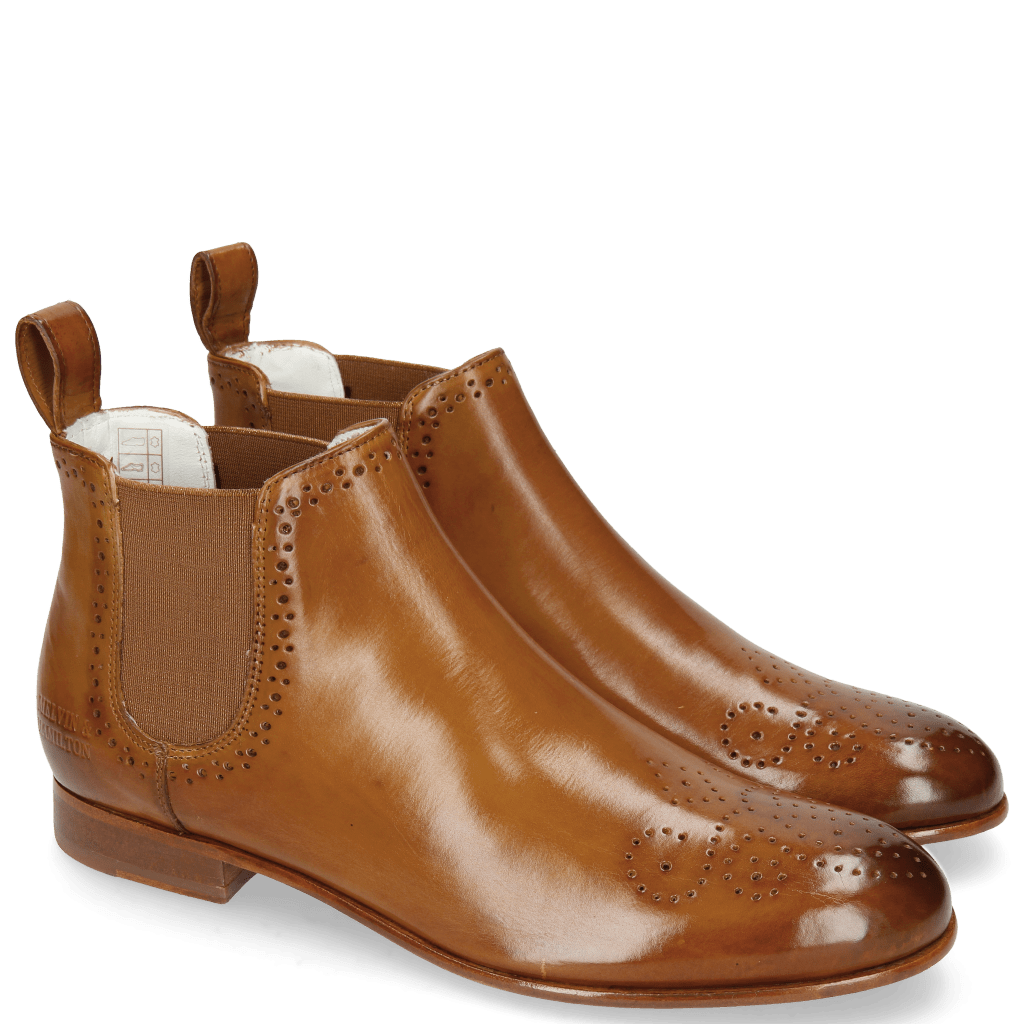 Ankle boots Sally 16 Tan Elastic Glitter