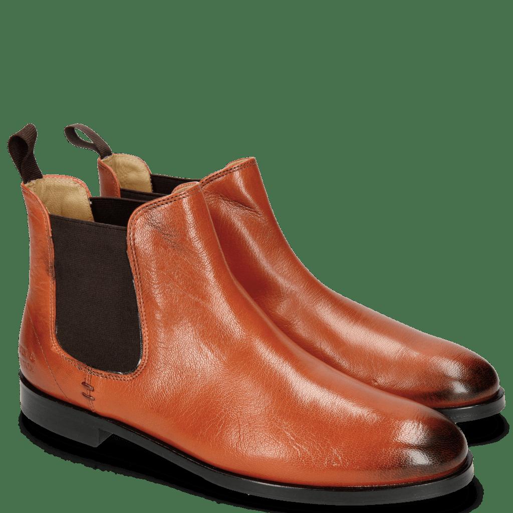Ankle boots Susan 10 Venice Orange Elastic Dark Brown