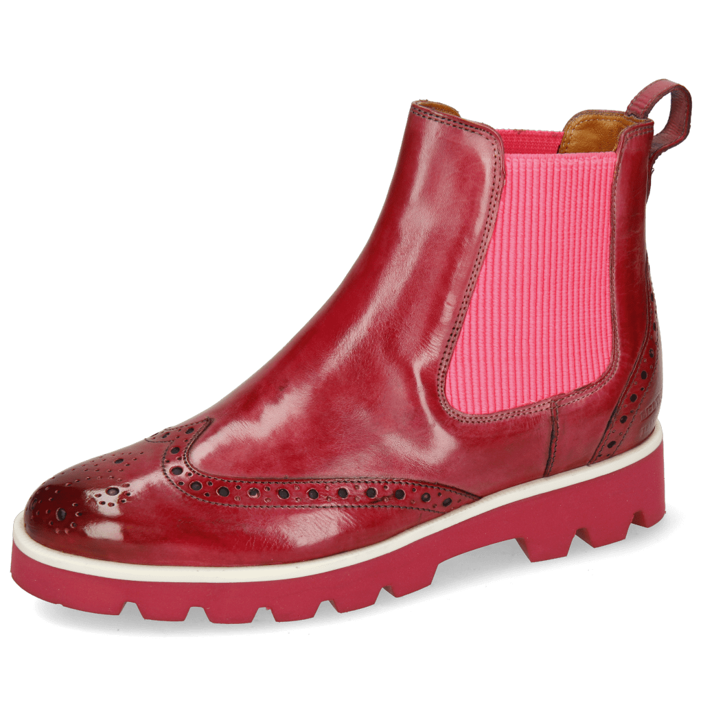Ankle boots Selina 29 Bubblegum Elastic Ribbed Pink