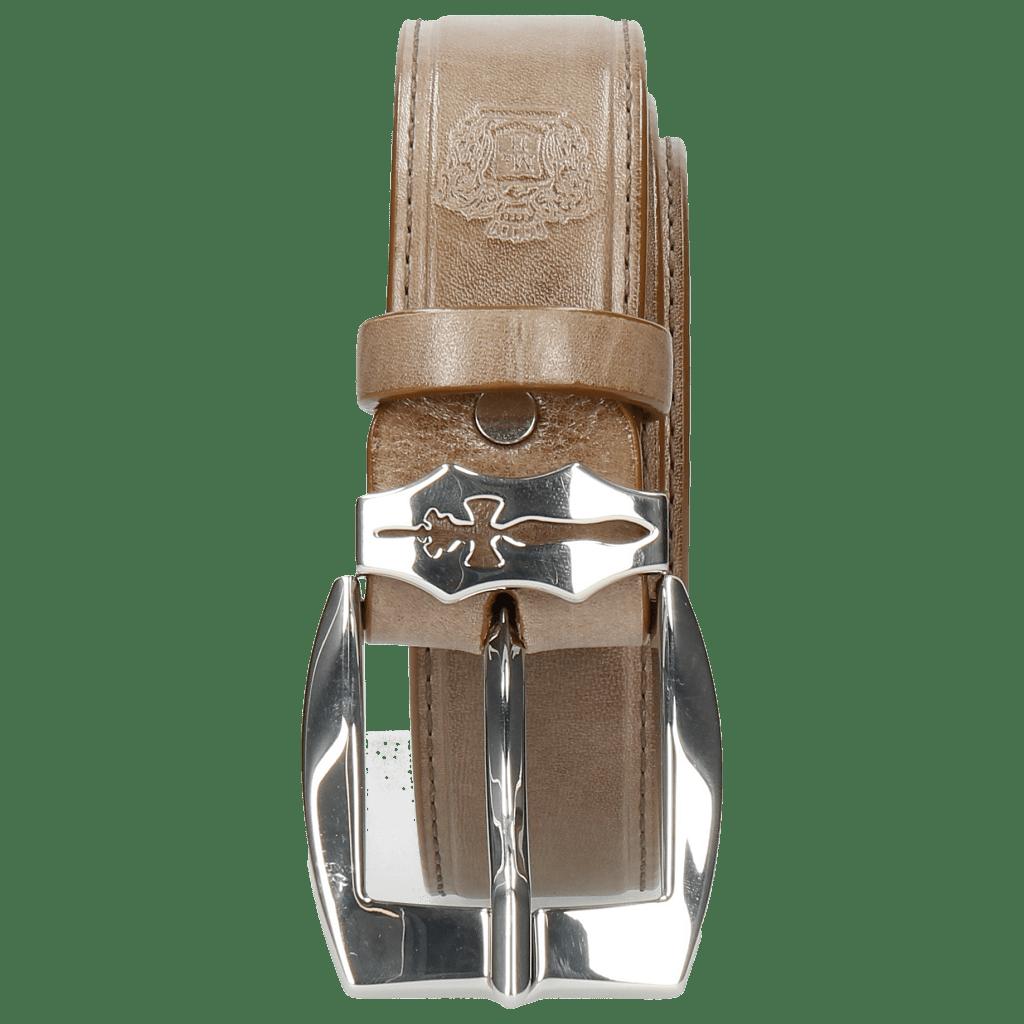 Belts Larry 1 Light Grey Sword Buckle