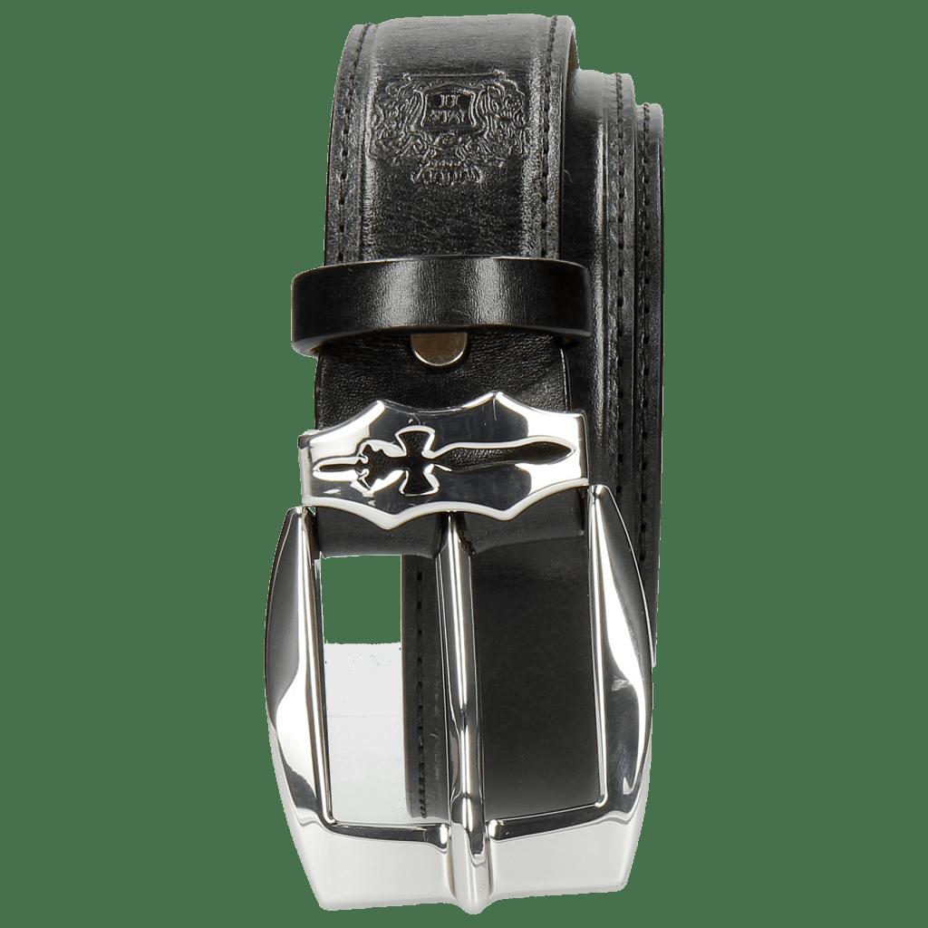 Belts Larry 2 Black Sword Buckle