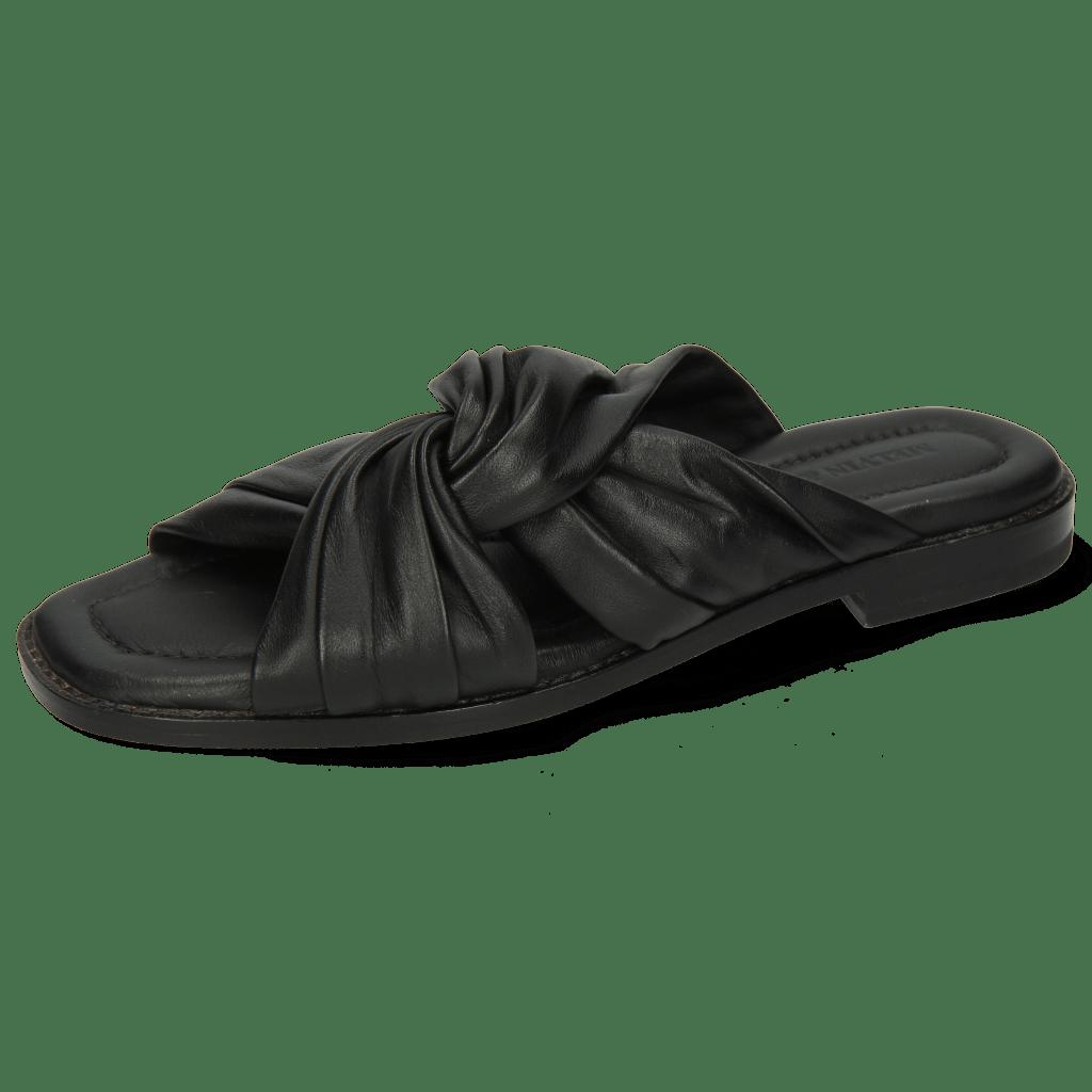Mules Elodie 22 Nappa Black Lining Black