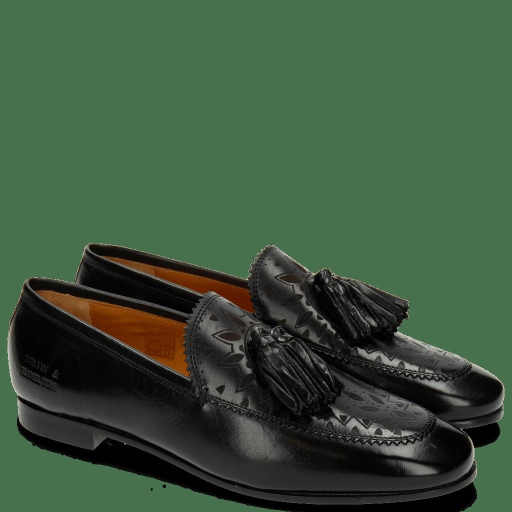 Loafers Scarlett 15 Black Lasercut