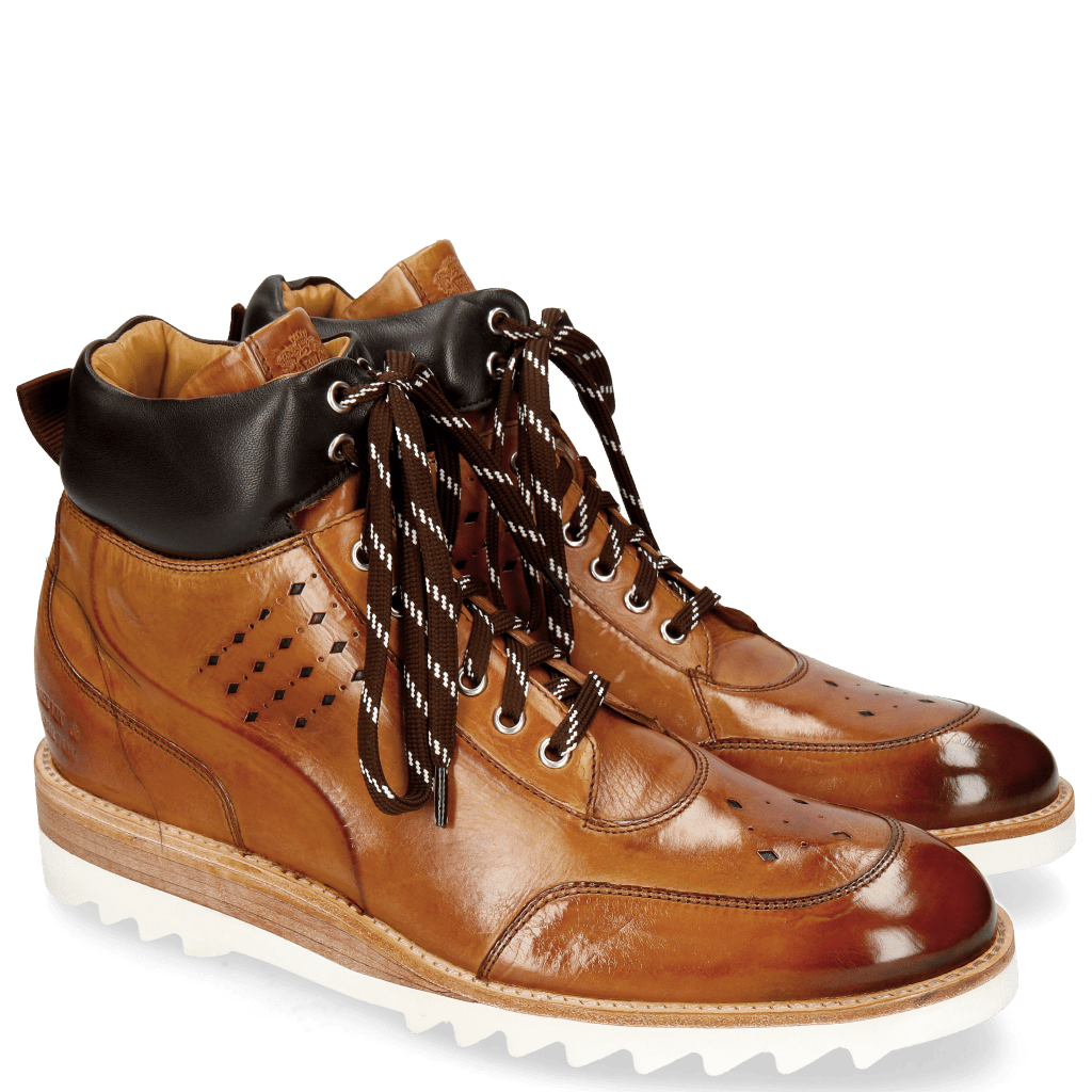 Ankle boots Trevor 28 Tan Nappa Dark Brown