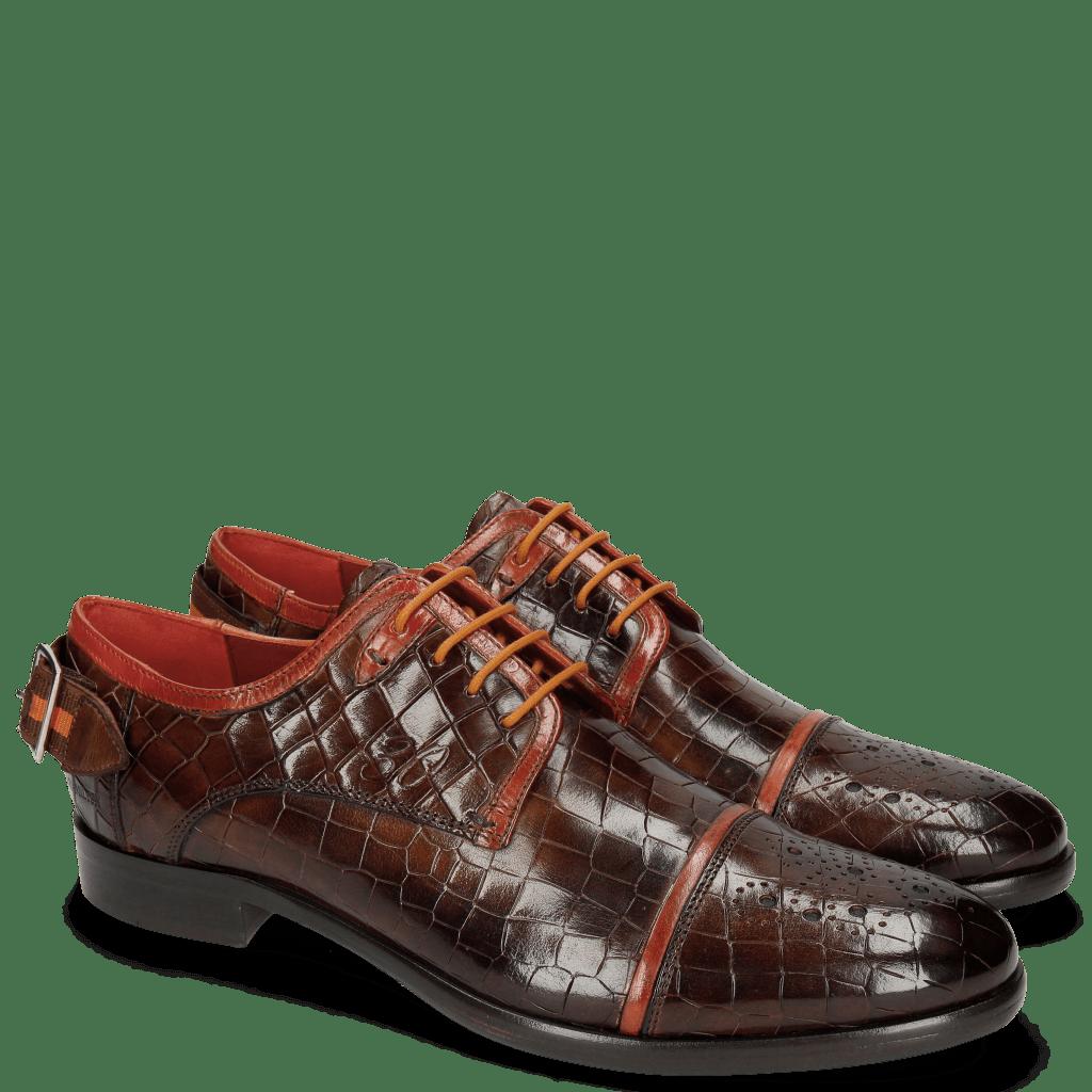 Derby shoes Clint 4 Crock Mid Brown Deco