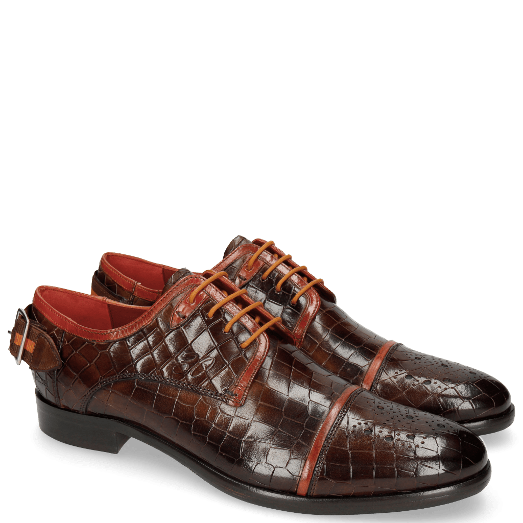 Derby shoes Clint 4 Crock Mid Brown Deco
